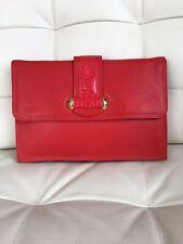 Rojo Bolso De Cuero De Jane Shilton. Embrague/Bolso de Hombro. BNWT