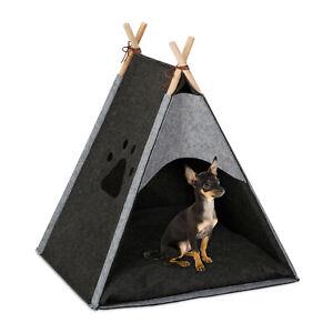 Hundezelt Katzenzelt Haustiertipi Tierzelt Filz indoor Hundehöhle Katzentipi