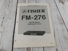 FISHER FM-276 AM/FM STEREO SYNTHESIZER TUNER  SERVICE MANUAL w/wiring diagram