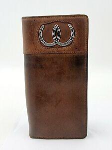 Wrangler Checkbook Leather Logo Wallet