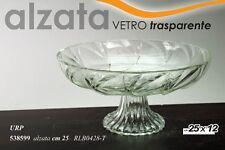 ALZATA CENTROTAVOLA IN VETRO TRASPARENTE 25X12 CM URP-538599
