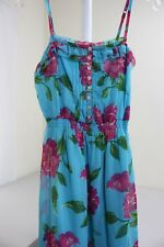 Hollister 100% Polyester Multi-Colored Floral Lined Pleated Mini Tea Dress Sz- S