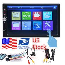 2DIN Bluetooth Car In-Dash Kit MP5 Radio AM/FM Receiver Player w/ Backup Camera