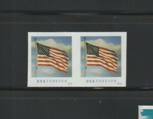 US ERROR Stamps:#5052a Forever Flag. Die cut omitted coil pair! MNH