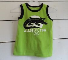 Boys Alligator Tank athletic Top Size 5 T  Green