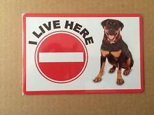 Rottweiler Beware of the Dog  Design Metal Door Sign