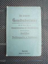 Die deutsche Grundbuchordnung und das Gesetz über die Zwangsversteigerung und Zw