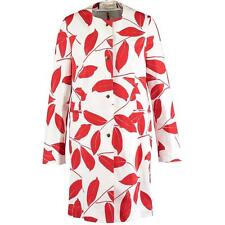 MARNI Red/White Leaf Cotton coat Mac UK10-12-14 IT42, rrp1195GBP New