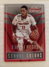 696563de2fdf 2015-16 Contenders D Angelo Russell School Colors RC Ohio State Rookie  Lakers