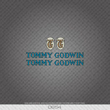 0654 Tommy Godwin Bicycle Stickers - Decals - Transfers - Blue With Black Key