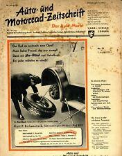 Der Auto-Markt 1950 31/50 Auto- und Motorrad-Zeitschrift DKW RT 125 Dunlop 2Takt