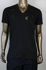 New Bottega Veneta Men's Black V-Neck T-Shirt w/Cutouts IT 52/US 42 306410 1000