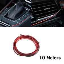 Chrome Red 10M DIY Car Grille Auto Interior Decoration Mounding Trim Strip Line