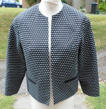 Top shop ladies retro style black and white jacket size 12