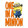 THE MINIONS PIXAR DESPICABLE ME ONE IN A MINION LOT OF STICKER WALL DECAL