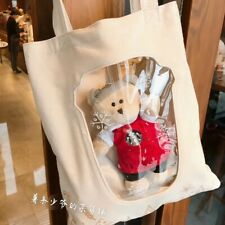 New Starbucks 2019 China Merry Christmas Red Apron Bearista Bear Tote Bag