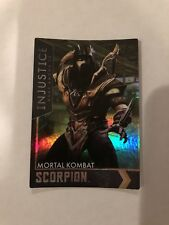 Dave and Buster Injustice MORTAL KOMBAT SCORPION Gold Card #82 FOIL/HOLO