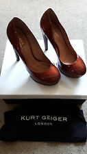 "KURT GEIGER London Bibendum Italian Patent Leather size 38.. 5"" heels,worn once"