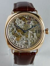 CREATION Montre coussin ROSE GOLD squelette type Unitas 6497 skeleton watch Uhr