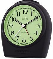 Acctim Broadway Smartlite Black Alarm Clock Non Ticking Quiet Sweeper Bold 14983