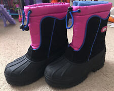 Girls' Winter Boots by Totes (Pink/Black/Blue) - Size 1