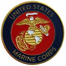 Two Sided Marine Corps Golf Ball Marker with USA Hat Clip