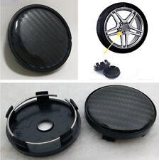 4Pcs 60mm / 58mm Black Carbon Fiber Pattern ABS Car Wheel Center Hub Caps Cover