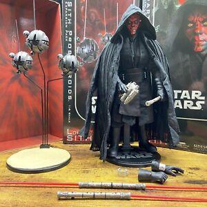 "Sideshow Star Wars 12"" LORD DARTH MAUL w/ SITH PROBE DROIDS 1/6 Scale Figure Lot"
