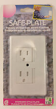 Elfe Safe Plate Electrical Outlet Covers Standard White 884007 NEW FREE SHIPPING
