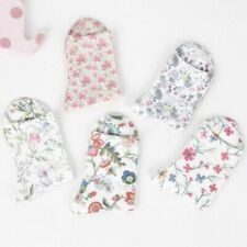 High Quality Soft Women Casual Ankle Socks Knitted Cotton Flower Printing