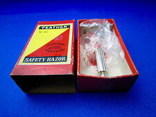 FEATHER  No.100 Vintage Safety Razor 1960's Made In Japan In Mint Condition