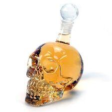 Crystal Skull Head Liquor Dispenser - Home Bar Decanter For Vodka & Whiskey