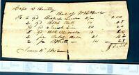 1842  Receipt Captain Daniel Beutty Looks like a BAR bill   B12