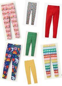 MINI BODEN Girls Leggings Fun Bright Cotton Full Length Spotty Striped Rainbow