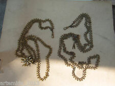 ANTIQUE VERY RARE 1850's LOT of Two Long  Pocket watch chains Victorian Era