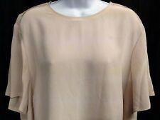 Liz Claiborne Women's Top Pink Classic Neck Short Sleeve Button Back Size 2X