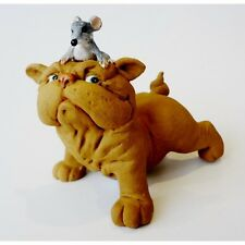 Ideal Gift 'Bulldog Lifting Mouse'  Figurine Made from polyresin