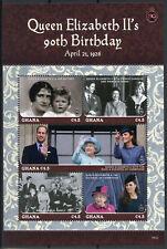 More details for ghana royalty stamps 2016 mnh queen elizabeth ii 90th birthday anniv 5v m/s