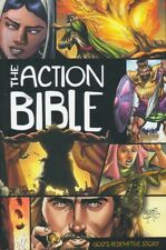 THE ACTION BIBLE ILLUSTRATED-GRAPHIC NOVEL STYLE -HARDCOVER