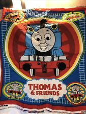 """Vintage Thomas & Friends Quilt Panel 2 Sided Toddler Crib Size 33"""" X 45"""""""