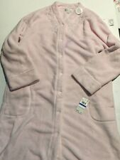 New Comfy Fleece Pink Nightgown robe Miss Elaine brand -stain