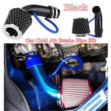"""Black Aluminum Alloy Car Cold Air Intake Pipe 76mm/3"""" & Filter Clamp+Accessories"""