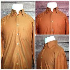 Ermenegildo Zegna Mens Shirts L/S Orange Micro Dots SIze Medium Made in Italy