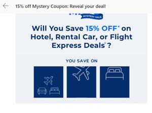 Priceline Express hotel 15% off discount code expires 8/5/2021- app use
