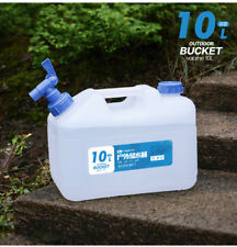 10l Litre Food Grade Water Container Camping Jerry Can With Tap Spare Lid Brush