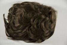 Light Chestnut Brown Brunette Medium Human Hair Monofilament Hand Tied Toupee