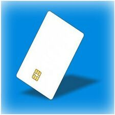 50 PCs Contact IC card SLE4442 Chip Smart Card  PVC  White No Printing