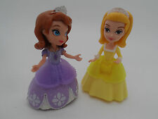 """Disney Princess 3"""" dolls Sofia the First + Sister Amber Interactive/Castle Doll"""