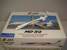 """Hogan Wings 500 Japan Air System JAS MD-90 """"1990s Rainbow color"""" 1:500 NG Boxset"""