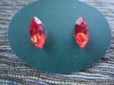 SWAROVSKI elements Austrian Crystal LT RED 4200/2 stud earring 15x7m